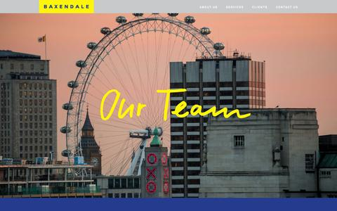 Screenshot of Team Page baxendale.co.uk - Team | Baxendale - captured Dec. 30, 2015