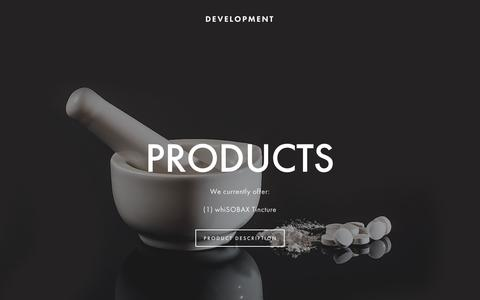 Screenshot of Products Page staphoff.com - PRODUCTS — StaphOff Biotech Inc. - captured Oct. 19, 2018