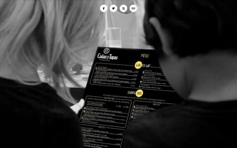 Screenshot of Home Page canasytapas.co.uk - Home Spanish Tapas in London - Cañas y Tapas - captured Sept. 6, 2015