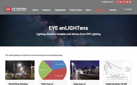 Screenshot of Blog eyelighting.com - EYE enLIGHTens – EYE Lighting - captured Sept. 26, 2018