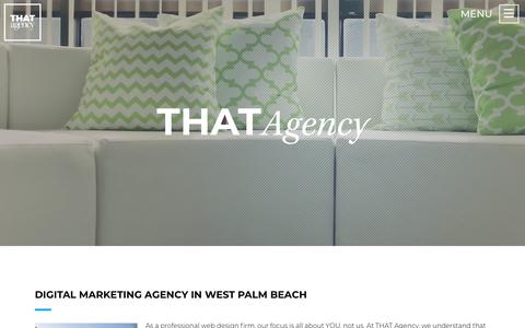 Screenshot of About Page thatagency.com - West Palm Beach Digital Marketing Agency | THAT Agency - captured Sept. 22, 2018