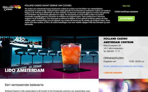 Screenshot of hollandcasino.nl - Lido Amsterdam - Holland Casino - captured Dec. 23, 2017