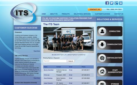 Screenshot of Team Page itsne.com - IT Solution Provider | Information Technology Solutions | ITS, Inc. - captured Oct. 6, 2014