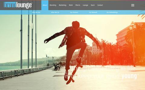 Screenshot of About Page brandloungeme.com - Brand Lounge Leads All Branding Agencies In Dubai - Know More About Us - captured Feb. 8, 2016