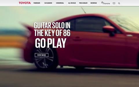 Screenshot of Home Page toyota.co.za - Toyota South Africa | Home of the Toyota Corolla, Hilux Bakkie, 4x4 Land Cruiser and many more of SA's favourite vehicles - Toyota South Africa - captured Aug. 5, 2015