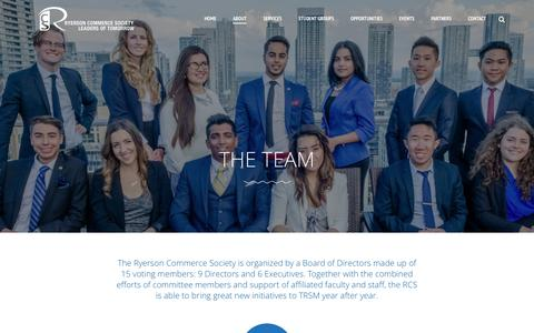 Screenshot of Team Page rcsonline.ca - Team | Ryerson Commerce Society - captured Feb. 15, 2016