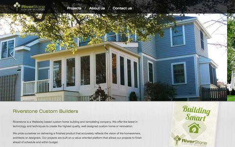 Screenshot of Home Page riverstonecustom.com - Riverstone Custom Builders, LLC. - captured Oct. 1, 2014