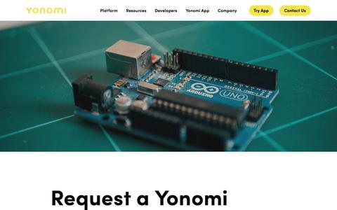 Screenshot of Developers Page yonomi.co - Yonomi Developer Portal — Yonomi - captured Jan. 19, 2020