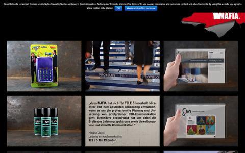 Screenshot of Home Page visualmafia.de - visualMAFIA - captured Oct. 20, 2018