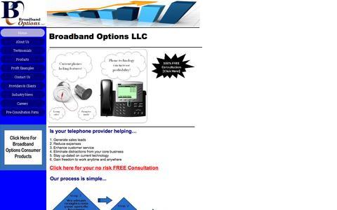 Screenshot of Home Page broadbandoptions.com - Home - captured Oct. 5, 2014