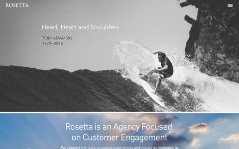 Screenshot of Home Page rosetta.com - Rosetta is an Agency Focused on Customer Engagement | Rosetta - captured Nov. 7, 2015
