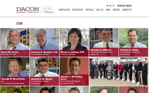 Screenshot of Team Page dacon1.com - Management Team | Dacon Corporation - captured Feb. 8, 2016