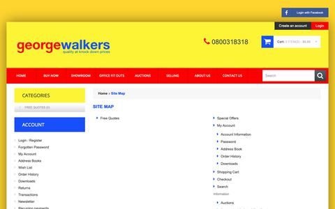 Screenshot of Site Map Page georgewalkers.co.nz - Site Map - captured Sept. 28, 2018