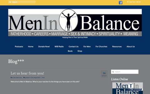 Screenshot of Blog meninbalance.org - Blog*** – Men in Balance - captured Nov. 6, 2018