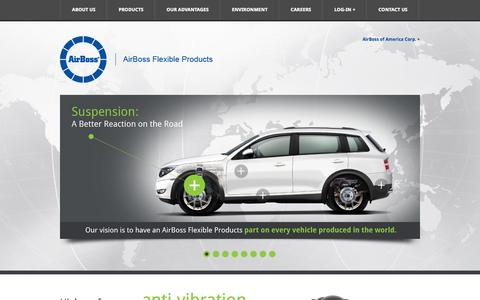 Screenshot of Home Page flexible-products.com - AirBoss Flexible Products - captured Jan. 27, 2015