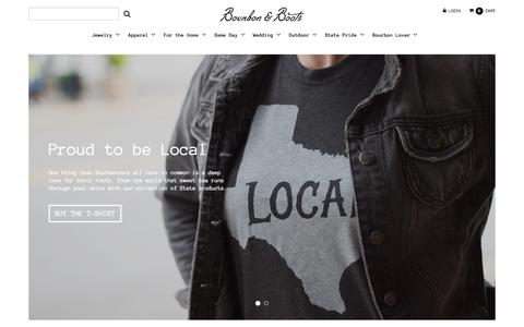 Screenshot of Home Page bourbonandboots.com - Southern Inspired Gifts & Merchandise – Bourbon & Boots - captured Sept. 17, 2015