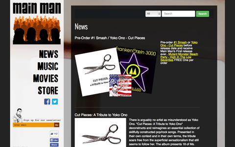 Screenshot of Home Page mainmanrecords.com - Main Man Records - Main Man Records - captured Jan. 27, 2015