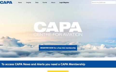 Screenshot of Press Page centreforaviation.com - CAPA - Centre for Aviation - captured May 3, 2017