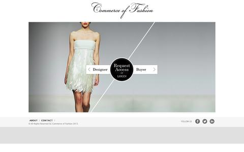 Screenshot of Home Page commerceoffashion.com - Commerce of Fashion - captured Oct. 3, 2014