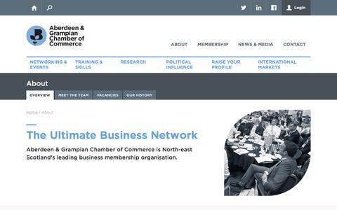 Screenshot of About Page agcc.co.uk - Aberdeen & Grampian Chamber of Commerce - captured Nov. 20, 2016