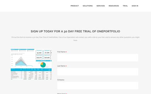 Screenshot of Trial Page project-online.com - Project Online |   Trial - captured July 9, 2018