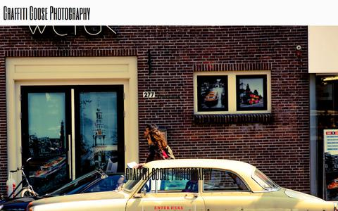 Screenshot of Home Page graffitigoosephotography.com - Photography by Jeanette Lamb - captured July 13, 2018