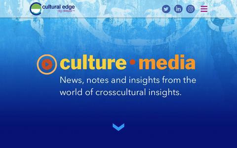 Screenshot of Press Page culturaledge.net - culturemedia - captured Sept. 30, 2018