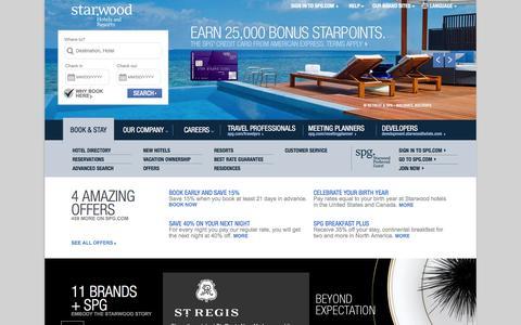 Starwood Hotels & Resorts | Book Hotels Online