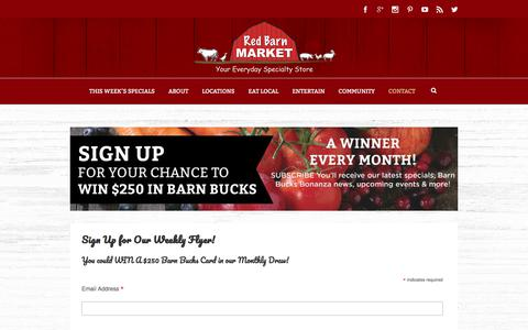 Screenshot of Signup Page redbarnmarket.ca - Sign Up | Red Barn Market - captured Sept. 20, 2018