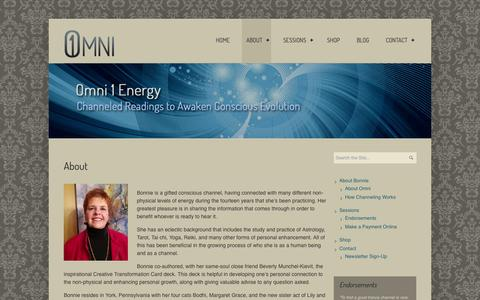 Screenshot of About Page omni1energy.com - About Bonnie Neil Habit | Omni 1 Energy - captured Oct. 26, 2014