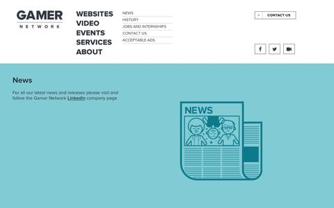 Screenshot of Press Page gamer-network.net - NEWS - ABOUT - GAMER NETWORK - captured Dec. 7, 2015