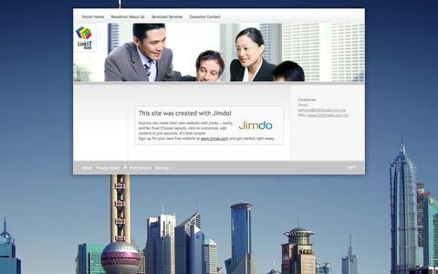 Screenshot of About Page linkittrade.com.mx - About - Página web de linkittrade - captured Oct. 8, 2014