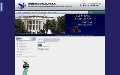 Screenshot of Login Page rambana.com - Login - captured Oct. 27, 2014