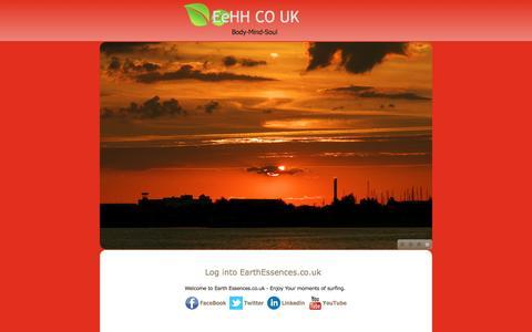 Screenshot of Home Page earthessences.co.uk - Home - captured Nov. 19, 2016