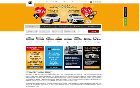 Screenshot of Home Page petervardy.com - New Cars & Used Car Dealerships in Scotland | Peter Vardy - captured Sept. 19, 2014