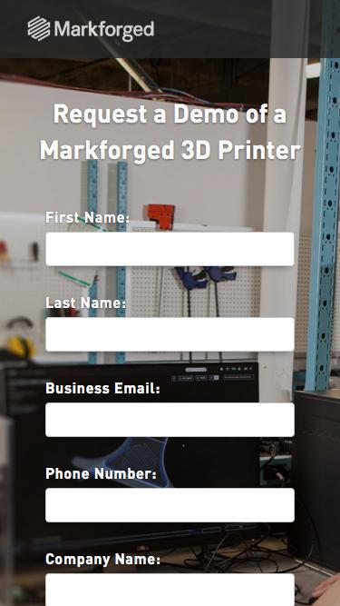 Request a Demo from Markforged