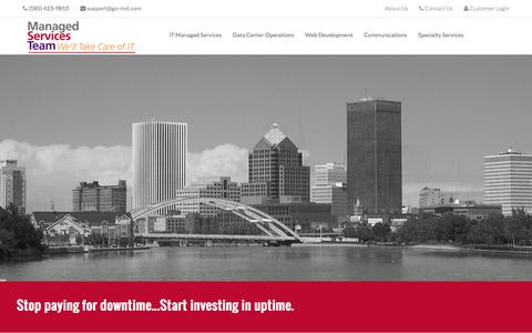 Screenshot of Home Page go-mst.com - Managed Services Team - captured Feb. 4, 2016