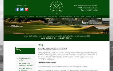 Screenshot of Blog mortongolf.com - Blog - Morton Golf - captured Feb. 24, 2016