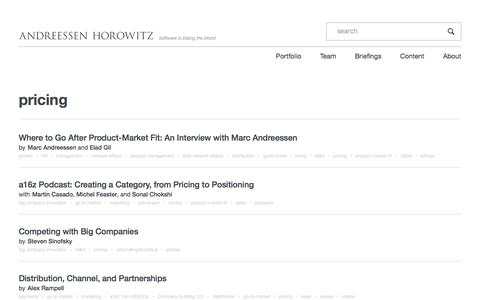 Screenshot of Pricing Page a16z.com - pricing – Andreessen Horowitz - captured July 22, 2018