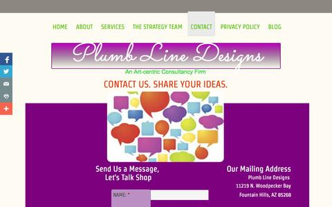 Screenshot of Contact Page plumblinedesigns.com - Contact - captured Oct. 2, 2014
