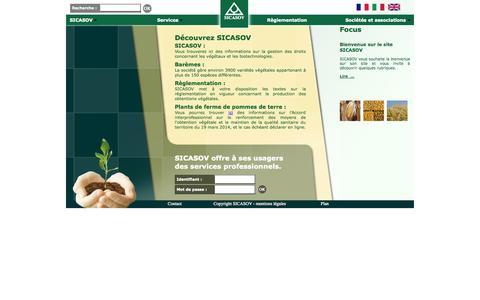 Screenshot of Home Page sicasov.com captured Oct. 3, 2014