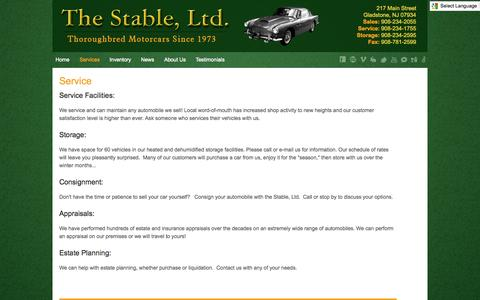 Screenshot of Services Page stableltd.com - Services - captured Oct. 6, 2014