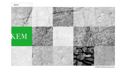 Screenshot of Home Page Menu Page kempartners.com - Keating Environmental - captured Oct. 6, 2014