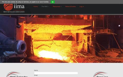 Screenshot of Contact Page metallics.org.uk - Contact Us – International Iron Metallics Association   IIMA - captured Nov. 26, 2016