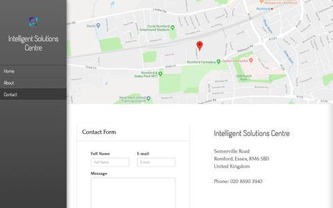 Screenshot of Contact Page intelligent-solutions-centre.co.uk - Contact » Intelligent Solutions Centre - captured Oct. 12, 2018