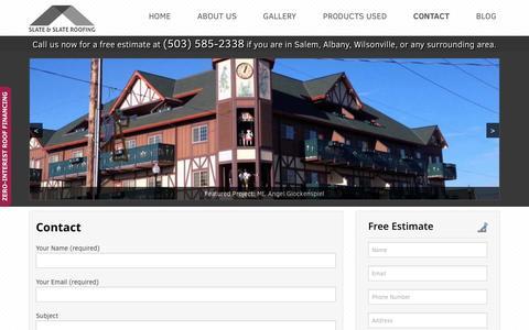 Contact - Slate & Slate Roofing
