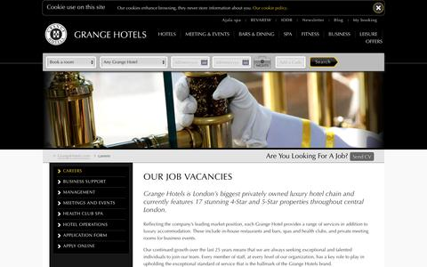 Hotel Job Vacancies & Openinigs in London | Grange Hotels