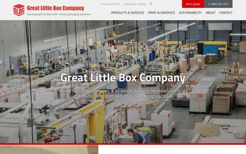 Screenshot of Home Page glbc.com - GLBC | Manufacturer & Designers of Custom Boxes, Displays & Labels - captured Sept. 24, 2018