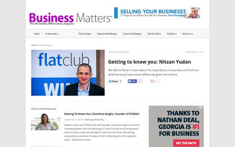 Screenshot of Team Page bmmagazine.co.uk - UKs leading entrepreneurs talk to Business Matters magazine - captured Sept. 23, 2014