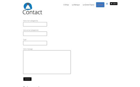 Screenshot of Contact Page petitlaki.com - Contact - Petit Laki - captured Sept. 29, 2014